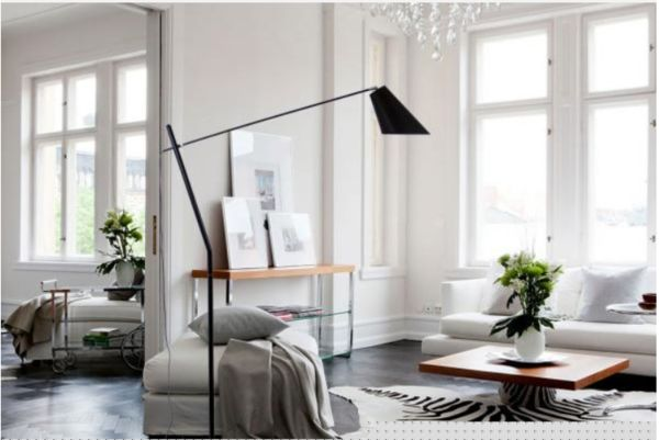 Sleek, on trend this floor lamp will stylize a room with elegance #lamp #lamps #floorlamp #interiordesign #homestyling #gaudionfurntiure