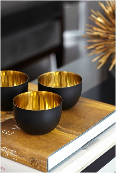 Black + gold bowls. By Atmosphere Interior Design