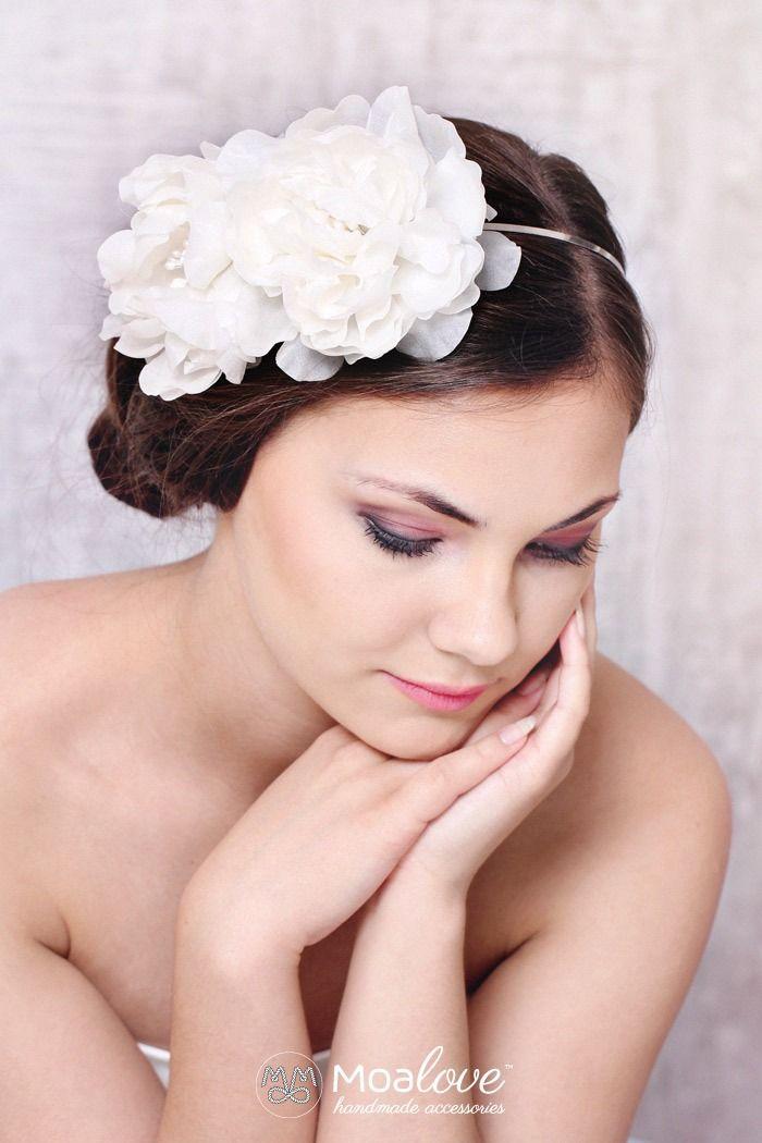 Gardenia | silk flowers headband - MoaLove Accessories