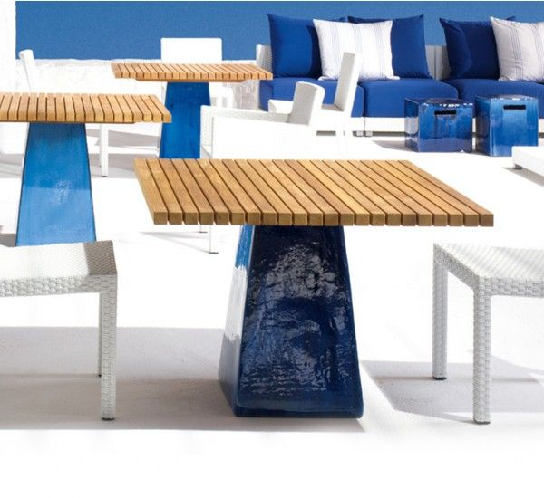 Inout 36 is a table by Paola Navone for Gervasoni. #Blue