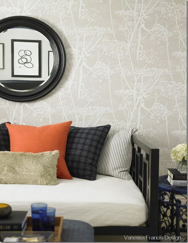 Neutralizing Cow Parsley - will I ever grow tired of this pattern? #wallpaper