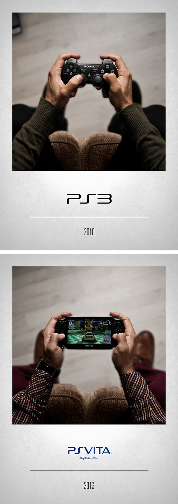 CONTROLLERS by Javier Laspiur, via Behance #Sony PS3 & PS Vita #VideoGame #RetroGame