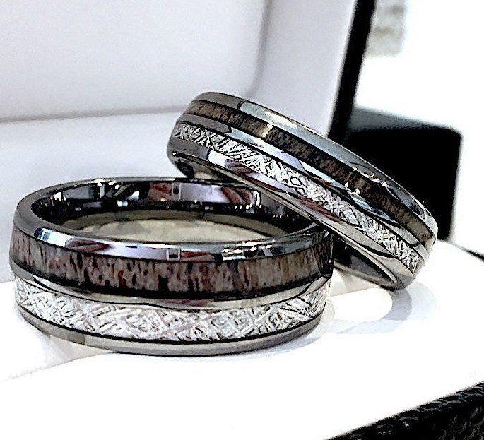 Rough Wedding Handmade Band Womens Mens Stainless Steel Ring