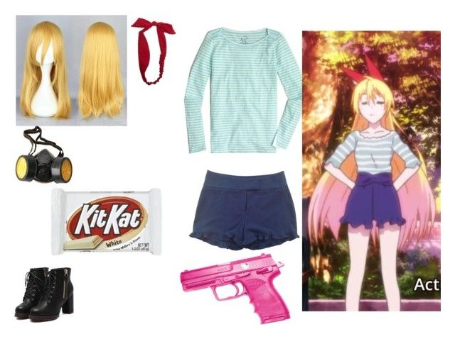 anime girl .9 by mayleneholm on Polyvore featuring J.Crew, BELAIR, Wet Seal, GAS Jeans, Reiss and Hello Kitty