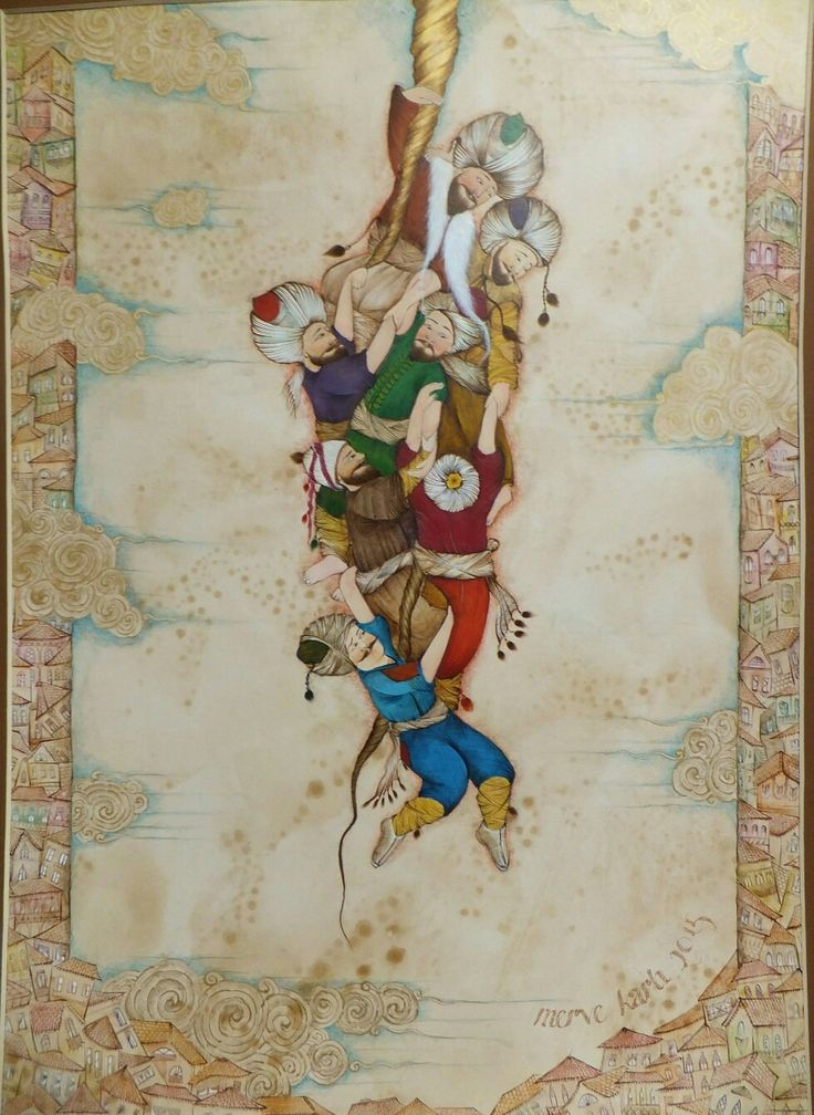 Miniature art:Allah'ın İpi(Âl-i İmrân 103)... Painter: Merve Karlı... 2015