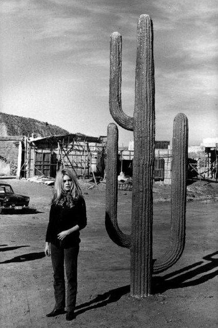 "Brigitte Bardot on the set of ""Shalako"" 1968"