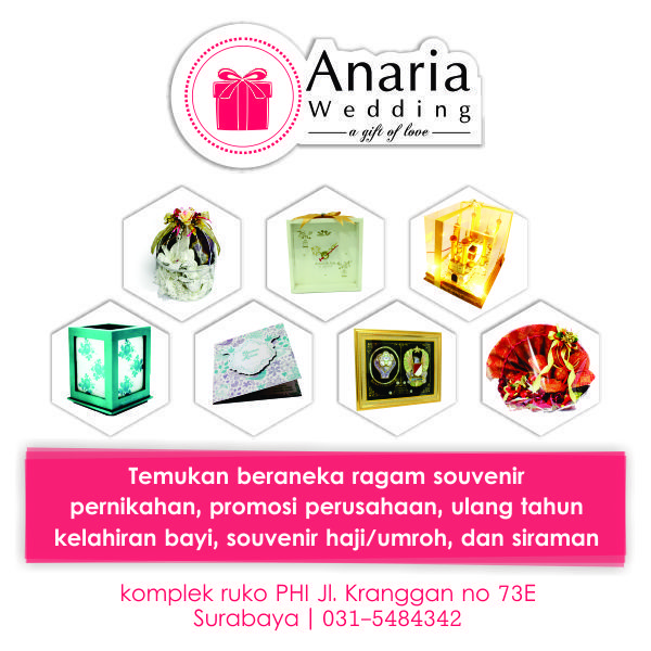 Anaria Wedding selling many souvenirs for any celebration. Contact us now Pin. 74073784 / WA 085645913004 | Visit us on www.souvenirnikah.co.id #anariawedding #souvenirsurabaya #maharsurabaya #hantaransurabaya #seserahansurabaya