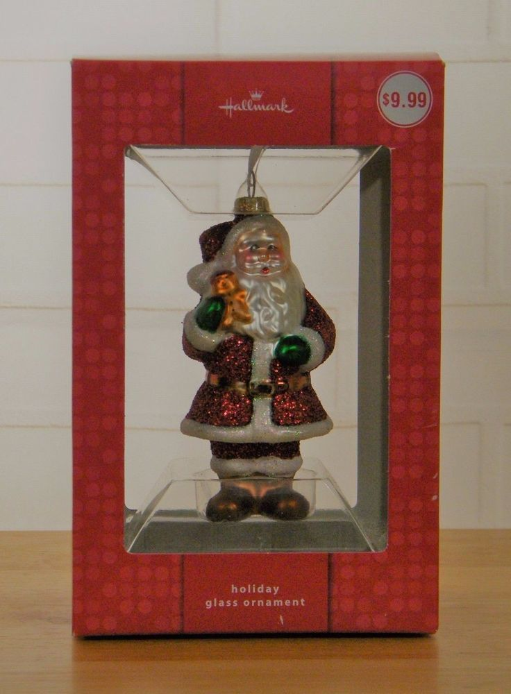 Hallmark Holiday Glass Ornament Santa Claus Glitter Christmas | Collectibles,  Decorative Collectibles, Decorative Collectible Brands | eBay! - Hallmark Holiday Glass Ornament Santa Claus Glitter Christmas
