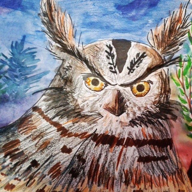 Развлекаю второй класс экспресс-почеркушками. Для них я просто бог рисования :D #ArtBySilmairel #Art #Owl #БудущийМучитель #School #Школа