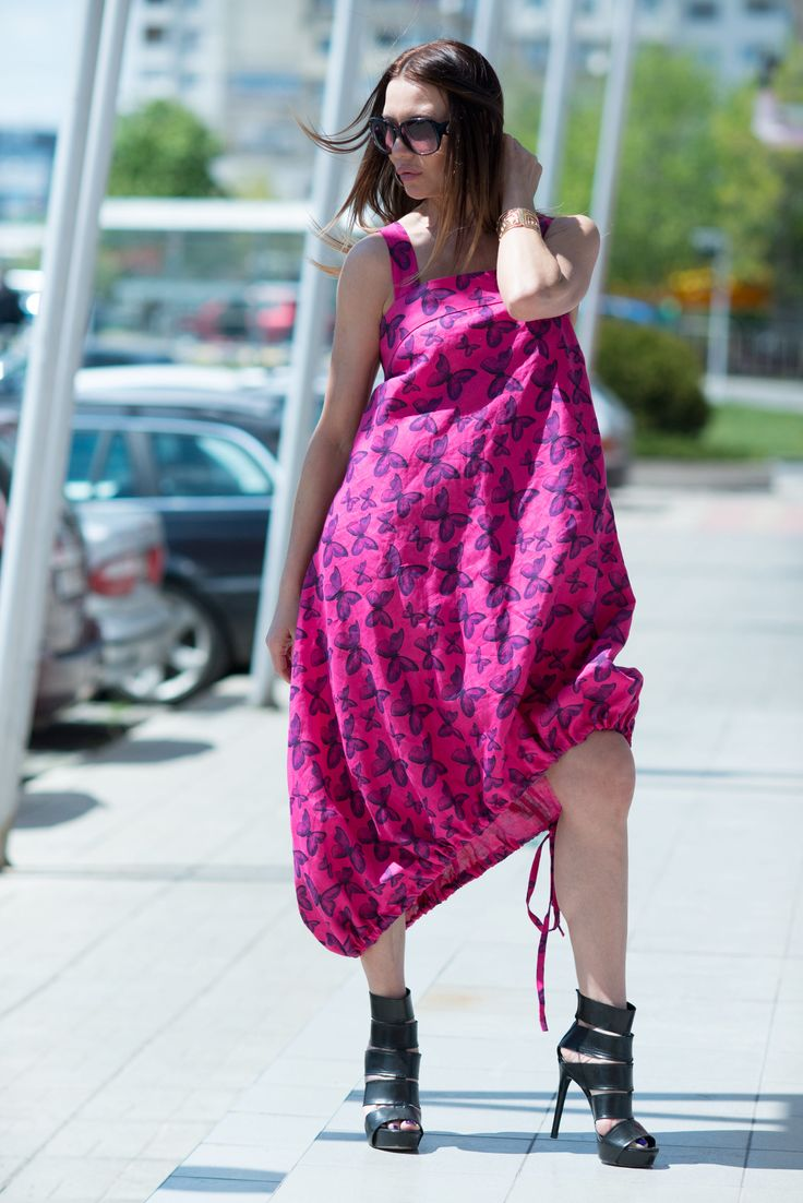A personal favorite from my Etsy shop https://www.etsy.com/listing/527422971/fuchsia-linen-dress-oversize-linen-dress