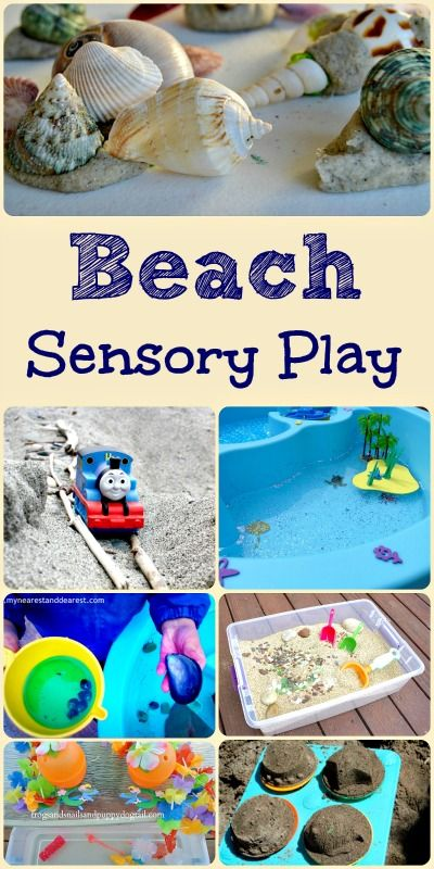 Beach Sensory Play Activities for Kids.   -Repinned by Totetude.com