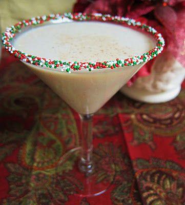 White Christmas Martini. So cute!