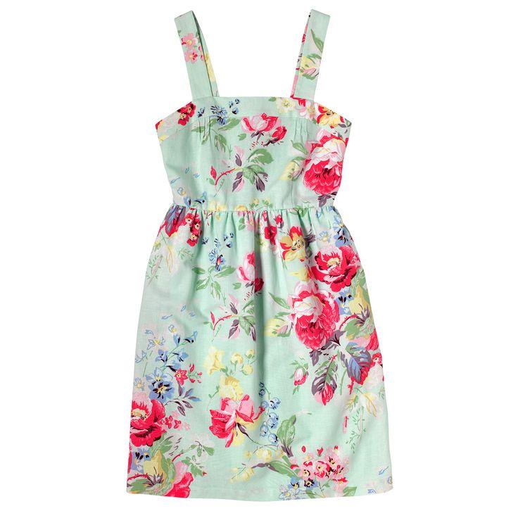 Large Portobello Linen Blen Strap Dress | Cath Kidston |