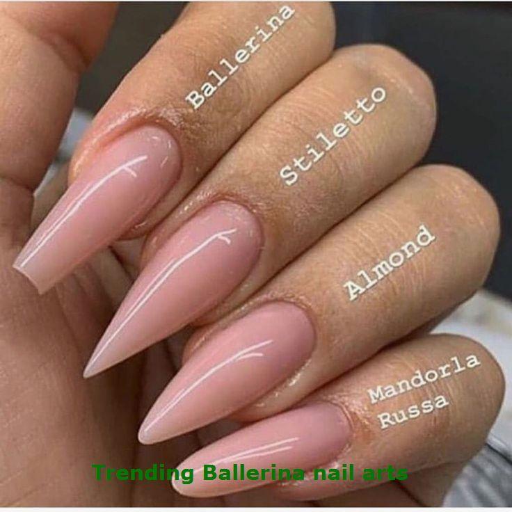 Ballerina Nails On Trend 1 Ballerinanails In 2020 Simple Acrylic Nails Ballerina Nails Acrylic Nail Shapes