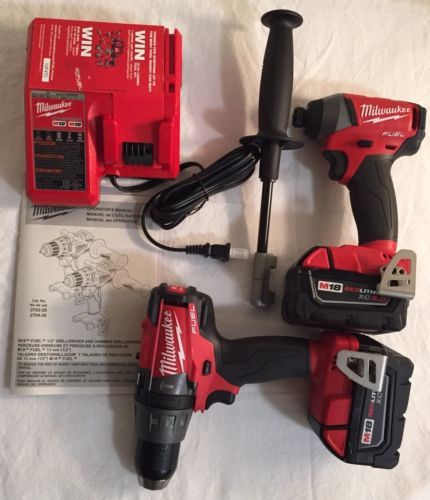 KK Milwaukee 2897-22CX M18 Fuel Hammer Drill/Impact Driver Combo Kit New #Home #Garden #Tools #2897-22CX
