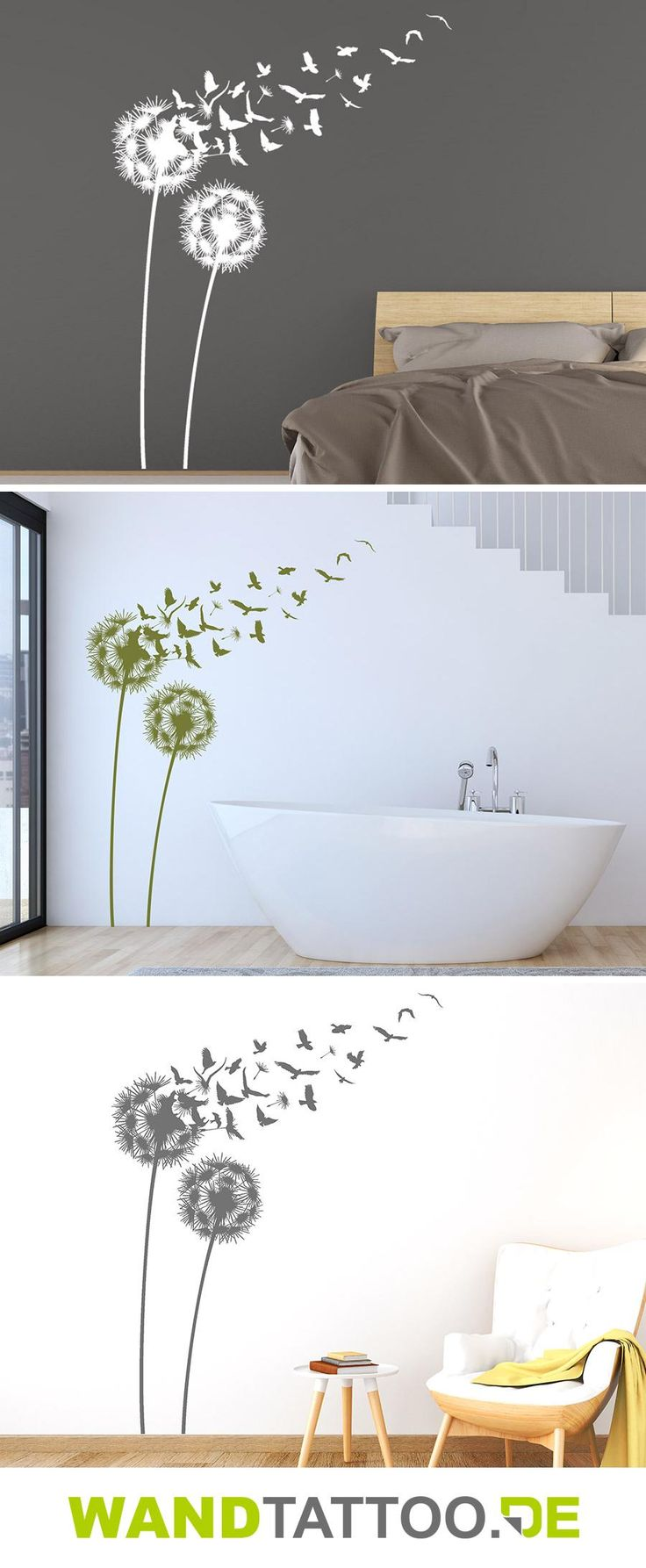 25 einzigartige wandtattoo pusteblume ideen auf pinterest. Black Bedroom Furniture Sets. Home Design Ideas