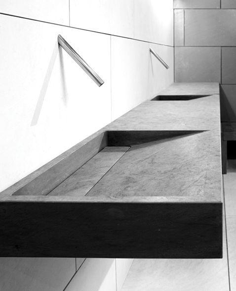 Great washing basin in precasted concrete #concretebasin #bathroom  http://www.grifoso.com/cuarto-de-ba%C3%B1o-contempor%C3%A1neo-cascada-grifo-del-fregadero-cromado-p-257.html