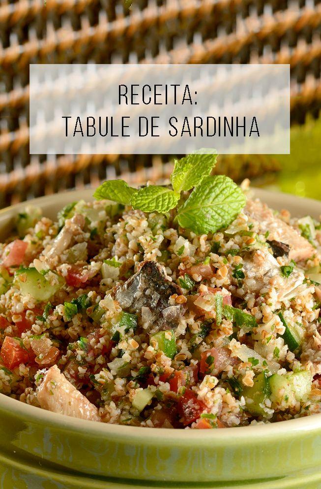 Receita fácil, rápida e barata: tabule de sardinha // palavras-chave: receita, cozinha, tabule, peixe, sardinha, fácil, salgado, jantar, almoço, fácil