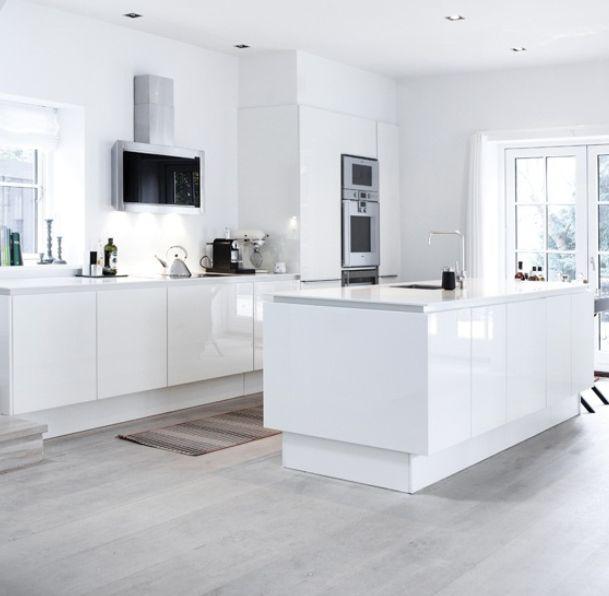 White Gloss Kitchen Flooring: 61 Best White Gloss Kitchens Images On Pinterest