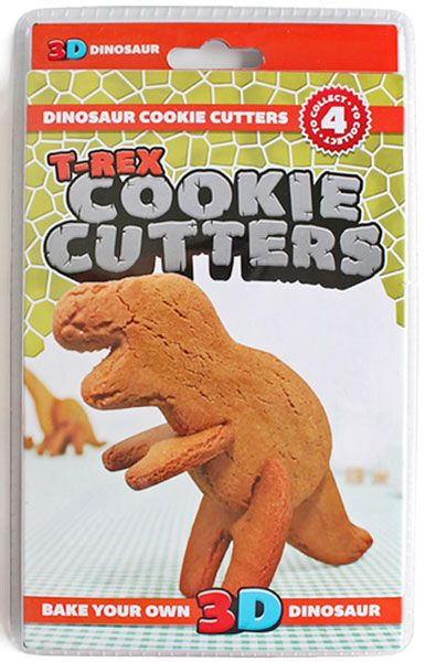 T-Rex 3D Cookie Cutters from Sarah J Home Decor