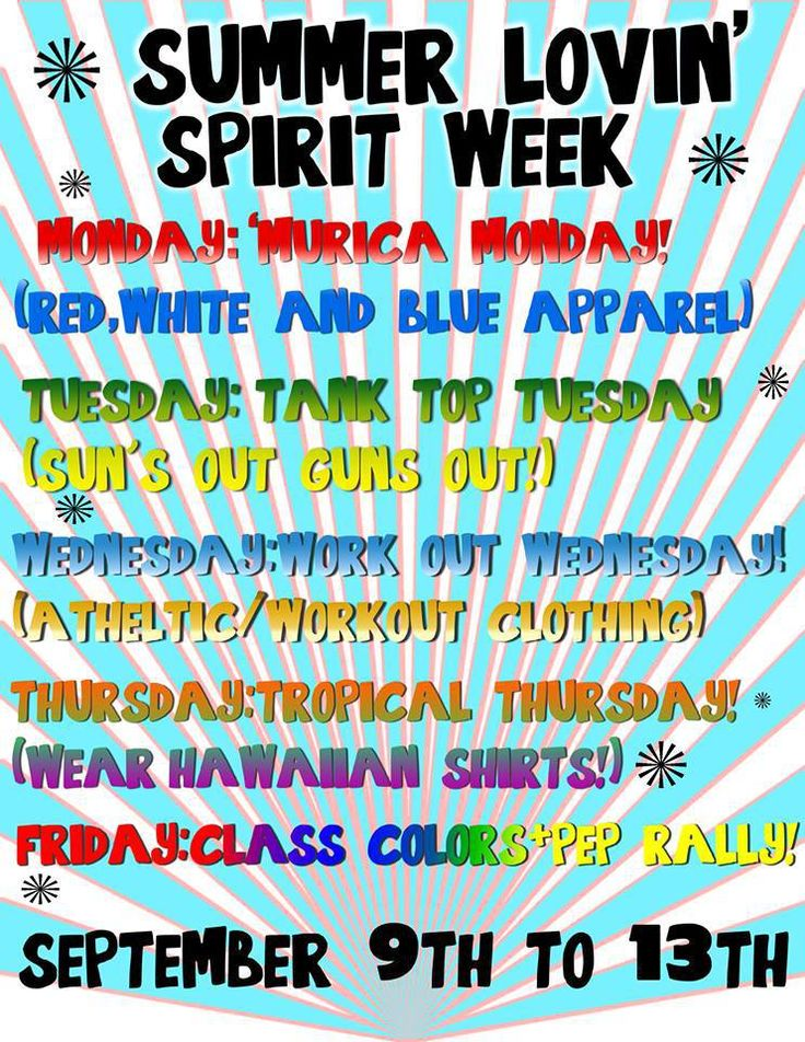 spirit week ideas - Google Search