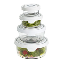 Round Glass TrueSeal Food Storage.Love the glass containers so much better,so tired of this plastic crap.Round Glasses, Glasses Container, Glasses Trueseal, Greener Kitchens, The Container Stores, Food Storage, Glasses Storage, Kitchens Gadgets, Trueseal Food