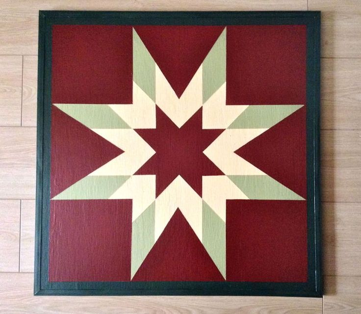 """Morning Star"": The ""Morning Star"" pattern is just one example of many used in Shirl Shaw's barn quilts. - Sherrie Norris sherrie.norris@wataugademocrat.com"