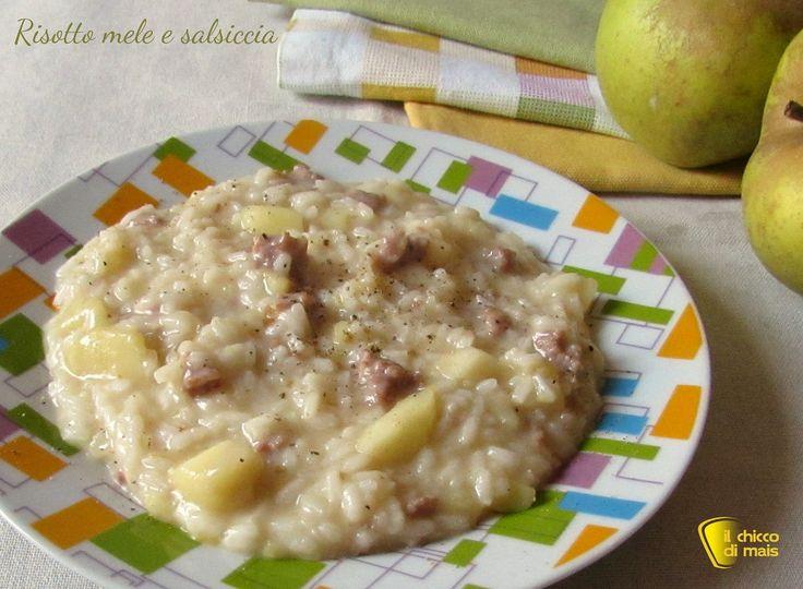 Risotto mele e salsiccia ricetta il chicco di mais