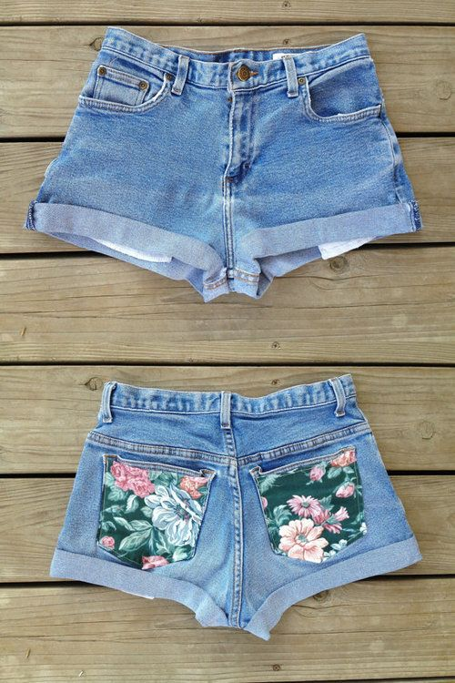 DIY | DIY fashion | shorts | florals | floral print | denim shorts | summer | summer fashion