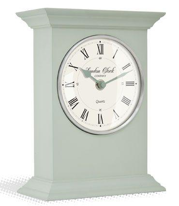 CLASSIC DESIGN SAGE GREEN MANTEL CLOCK