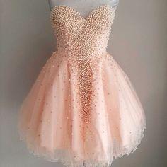 Rosa perlas longitud de la rodilla Vestidos fiesta 2016 Vestidos Vestidos de 15 años curto novia corto Prom Vestidos de graduación octavo grado