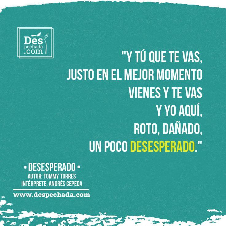 Nadie mejor para expresar nuestro sentimiento despechado que @andrescepeda