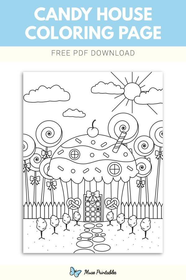 A Yummy House Made Of Candy For Christmas Coloring Page Christmas Coloring Books Candy Coloring Pages Christmas Coloring Pages