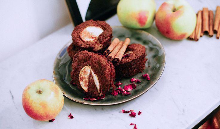 Recept på glutenfria och sockerfria muffins med äpple och kanel