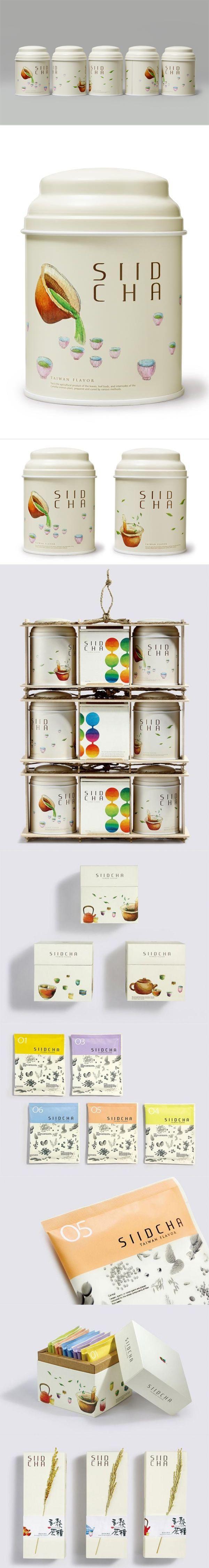 台湾吾谷茶粮 SIID CHA 系列包裝设计 beautiful #tea #packaging #branding PD If tea always looks like this, we're always ready for a cup!