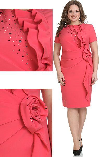 Нарядные платья для полных женщин белорусской компании Andrea Style. Осень-зима…