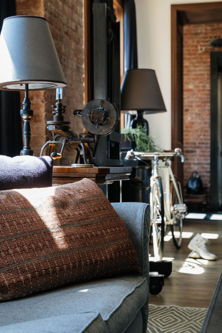 Project all white studio apartment perianth interior design new - Exposed Brick And Dark Colours Win
