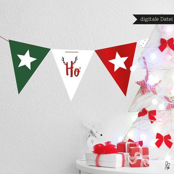Ho ho ho! Wunderschönes Weihnachts-Set zum Selbstausdrucken! Planst du eine Weihnachtsfeier oder einen Adventstee? Dann haben wir die passenden Vorlagen als Printable für dich. Du erhältst die PDF-Daten ca. eine Woche nach Bestellung. **KEIN SOFORTDOWNLOAD**  **Dies ist ein _digitales Produkt_. Du erhältst eine PDF per e-Mail. Dies ist _kein physisches Produkt_.**  +++DU ERHÄLTST (digitale Datei, A4):+++ - 1x PDF **Einladung** (Endformat A6, 105 x 148 mm) - 1x PDF **Banderole** (z.B. für…