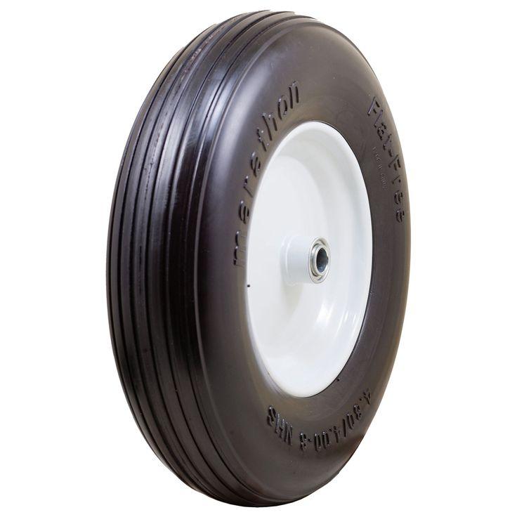 Marathon 00063 Ribbed Flat Free Wheelbarrow Tire