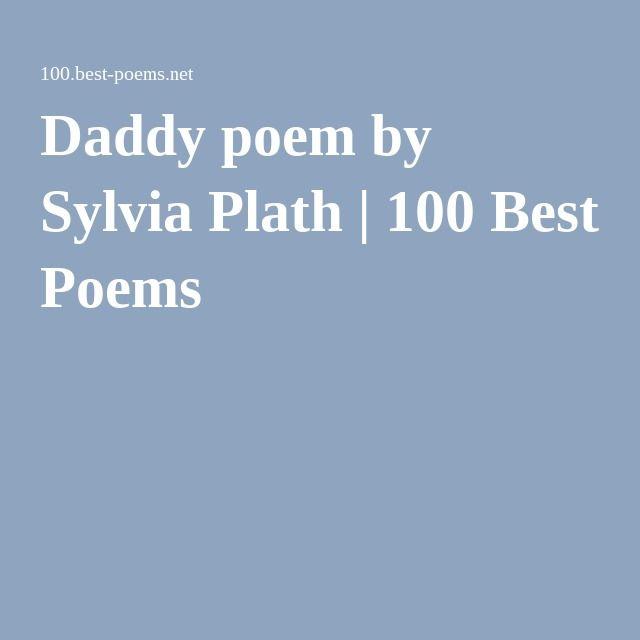 sylvia plath essays daddy
