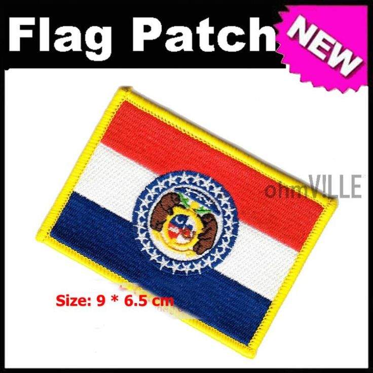 2016 Patches For Clothing Parches Bordados Missouri Flag National Hot Iron Mending Clothes Designs Assorted Random Shipments