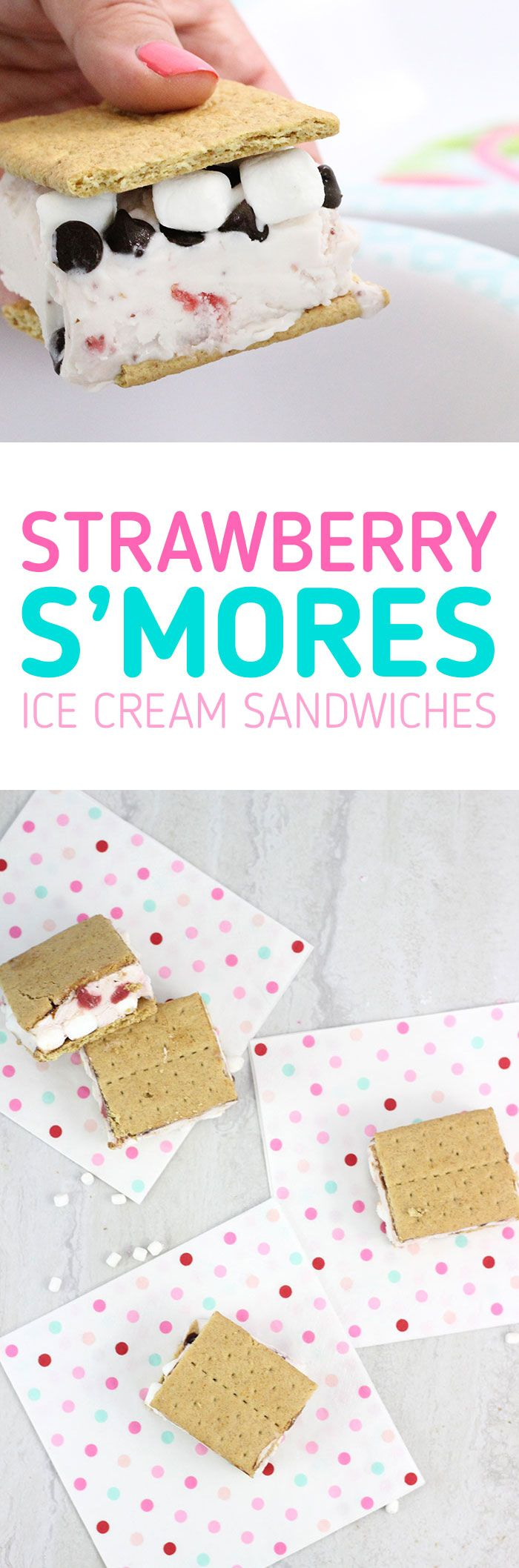 Strawberry S'mores Ice Cream Sandwiches. So easy and yummy. Customize your own ingredients. Save on everything you need to make these at Family Dollar #ad