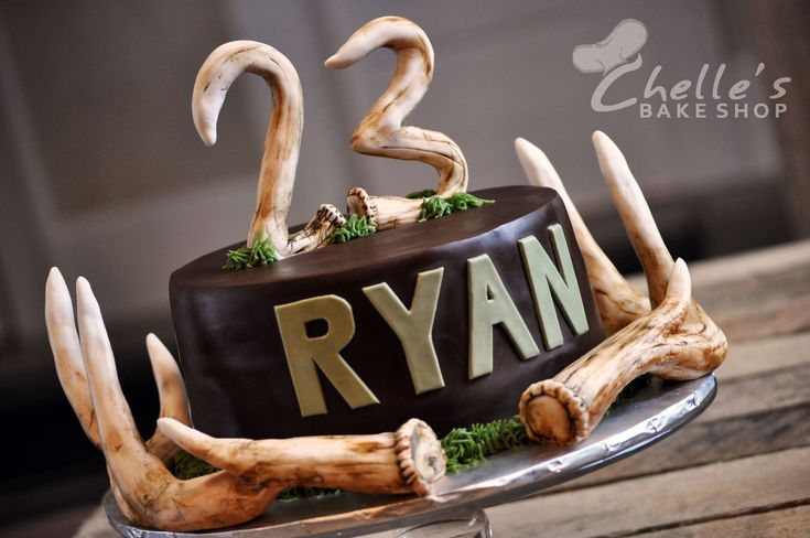 how to make deer antlers for a cake
