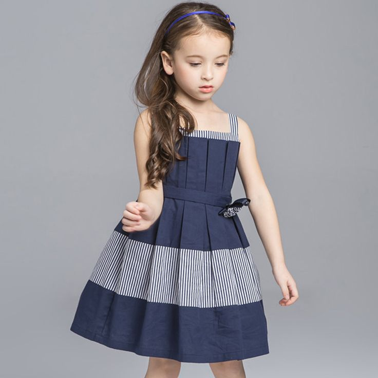 Find More Dresses Information about Girls Dress 2016 Kids Clothing Casual Kids Dresses Sleeveless Striped Girls Party Dress,High Quality dress styles for short women,China dress up black dress Suppliers, Cheap dress up prom dress from Little Lisa on Aliexpress.com