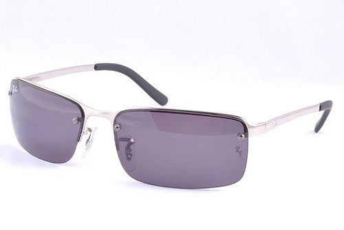 Ray-Ban RB3217 Active Lifestyle Sunglasses Purple Lens Silver Frame