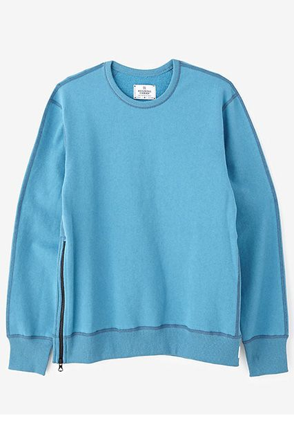 Reigning Champ Crewneck With Side Zip, $145, available at Steven Alan.