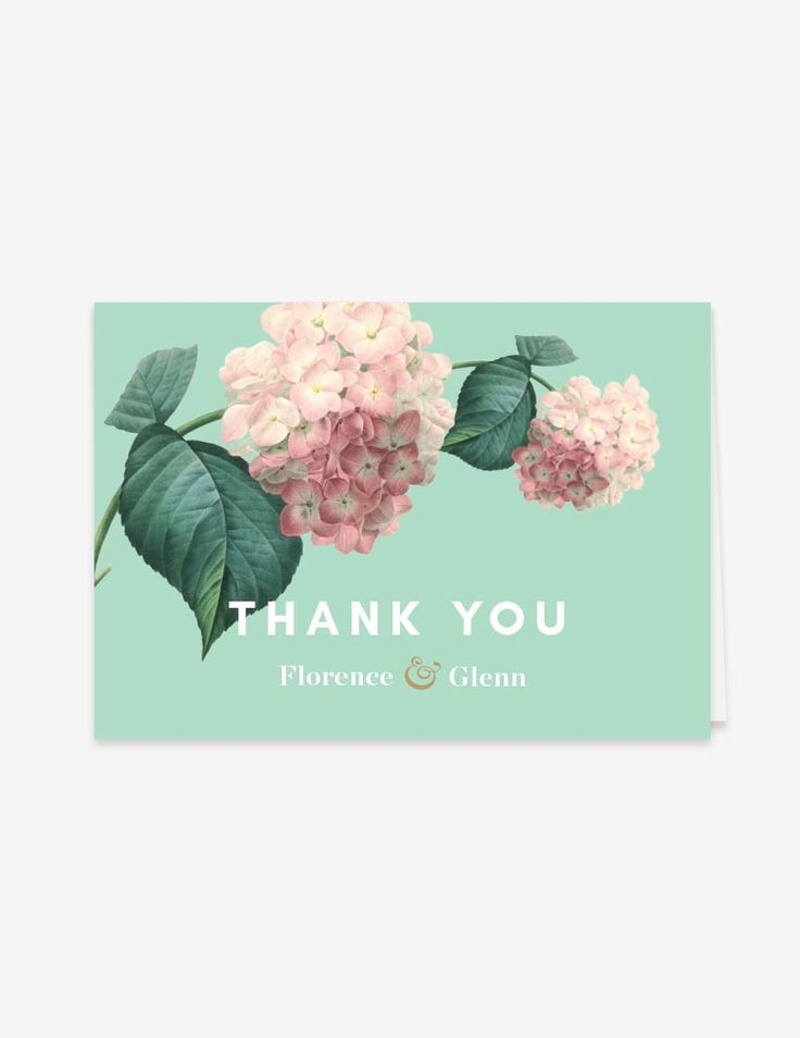 Hemlock Thank You Card. www.inatondesign.com
