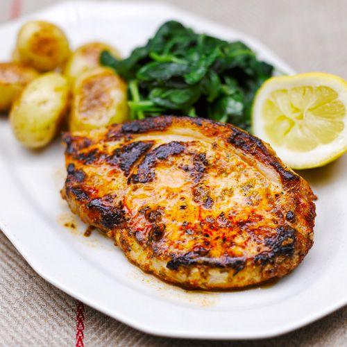 Varkensvlees met mosterd & paprika ingredienten - Jamie magazine