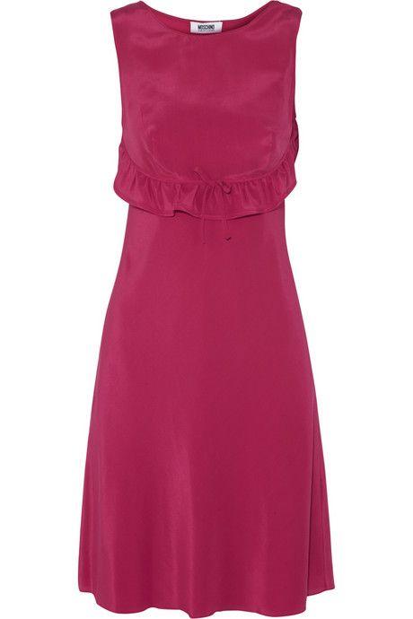 Moschino Cheap and Chic Ruffled silk-crepe dress