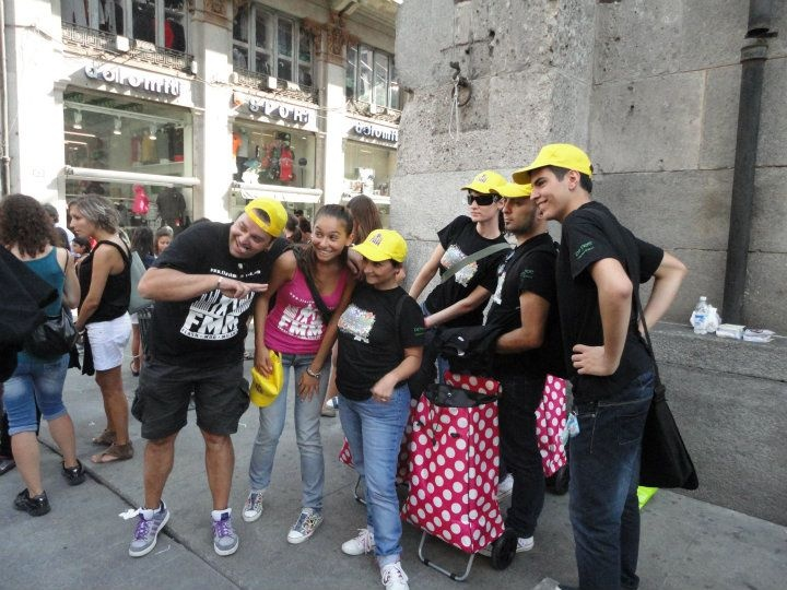 """""""Back to school"""" (from Grease)   Flashmobmilano, Milan; Italy"""